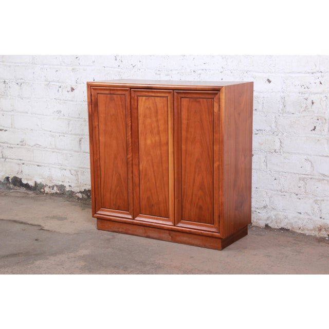 Kipp Stewart for Drexel Declaration Mid-Century Modern Walnut Cabinet, 1965 For Sale - Image 12 of 12