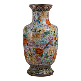 A Large Early 20th Century Chinese Cloisonné Vase circa 1900-1920 For Sale