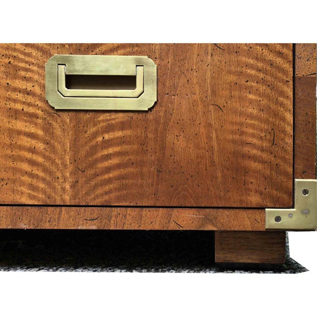 1970s Campaign 7 Drawer Credenza or Dresser by Henredon For Sale In Chicago - Image 6 of 13