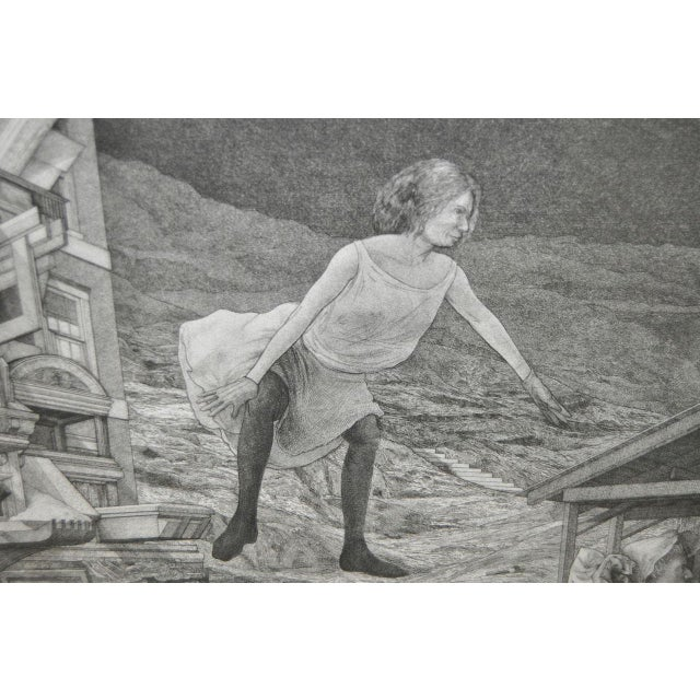 David Becker Pencil Signed Etching C.1970s For Sale - Image 5 of 11