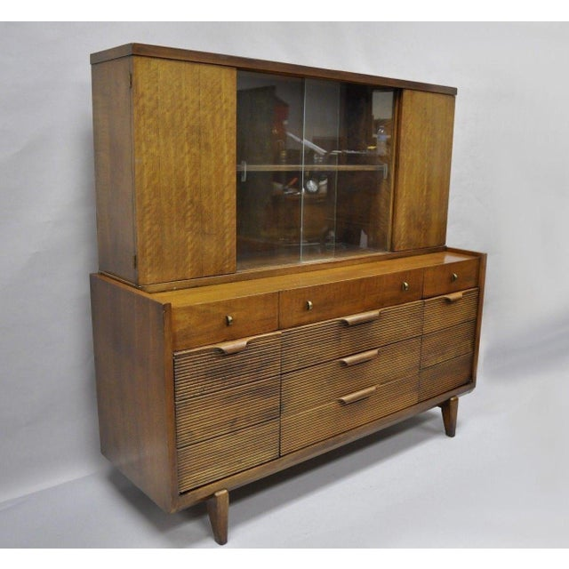 Century Furniture Mid-Century Modern Walnut China Cabinet For Sale - Image 12 of 12