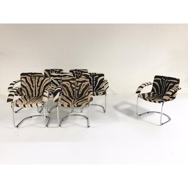 Giovanni Offredi for Saporiti Lens Chairs in Zebra - Set of 8 - Image 4 of 11