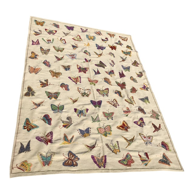 Handmade Butterfly Kilim Rug - 6′9″ × 9′10″ - Image 1 of 4