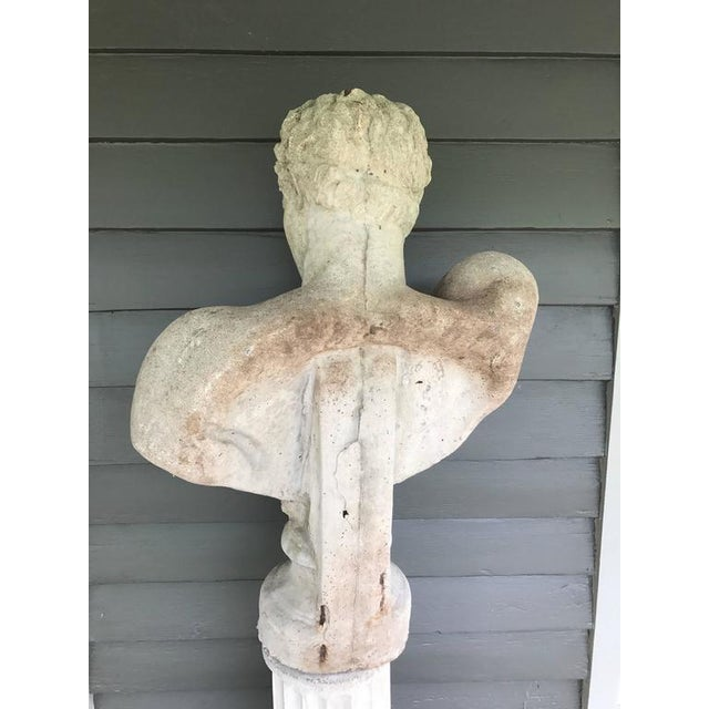 1980s Cast Stone Italian Bust of Hermes For Sale - Image 5 of 6