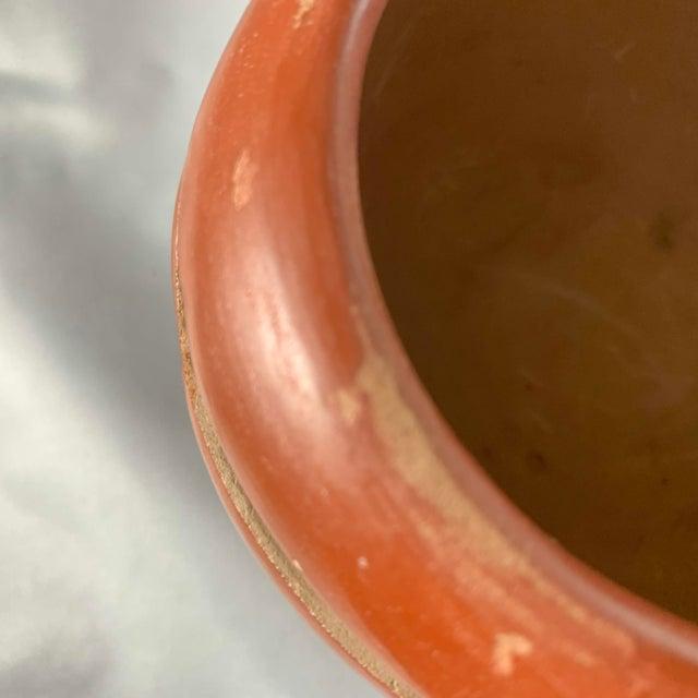 Southwest Mida Tafoya Redware Jar With Carved Avanyu Design For Sale - Image 9 of 13