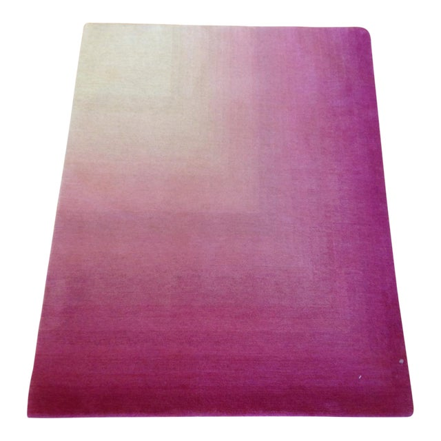 Pink & White Ombre Rug - 3′ × 4′ - Image 1 of 3