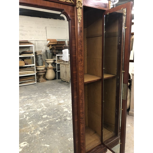 19th Century French Neoclassical Mirrored Armoire For Sale - Image 10 of 13