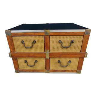 20th Century Campaign Chest With Four Drawers For Sale