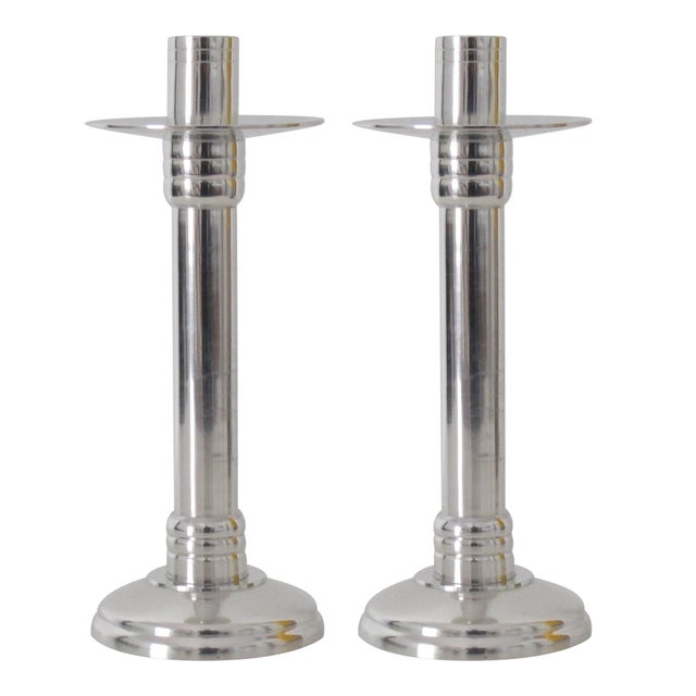 Neoclassical Silver Candlesticks - Pair - Image 1 of 4