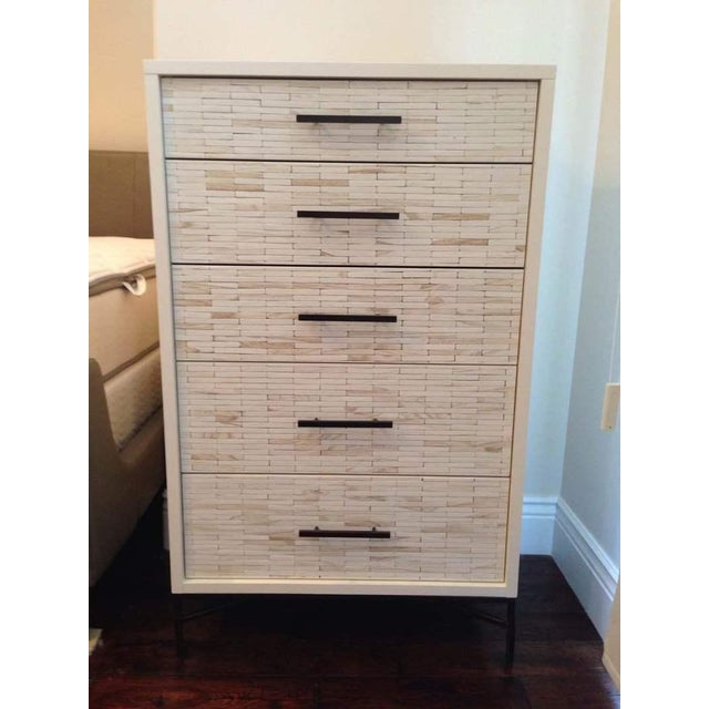 Contemporary White Oak Five Drawer Dresser - Image 2 of 6