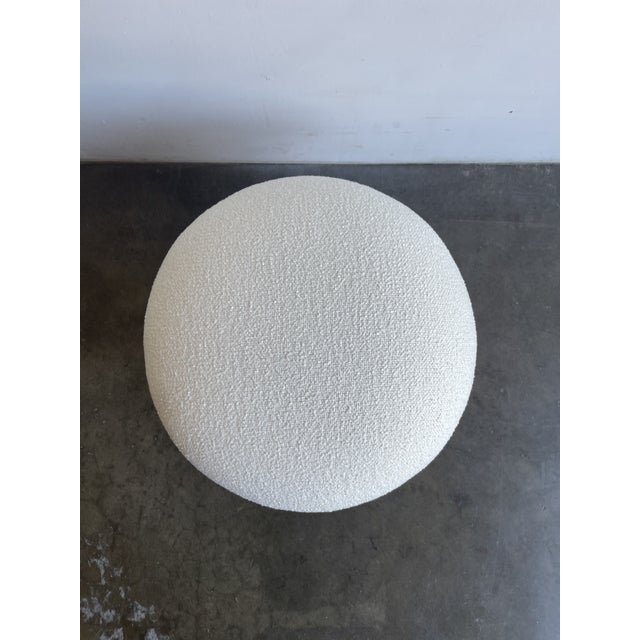 Not Yet Made - Made To Order White Boucle Shroom Ottoman For Sale - Image 5 of 7
