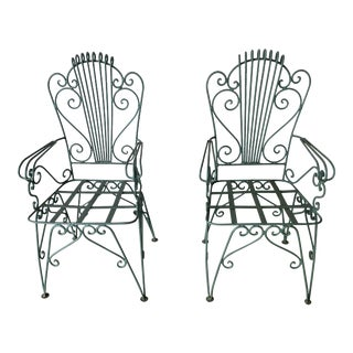 French Garden Chairs - a Pair For Sale