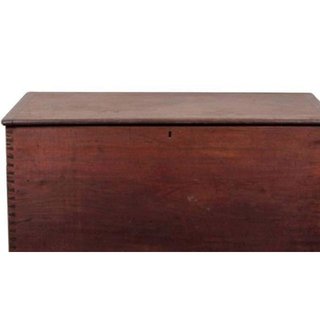 Handsome mahogany blanket chest, hand dovetailed corners, lovely color and patination. Great size for foot of bed or...