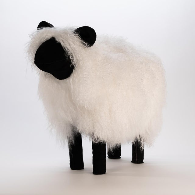 Our high quality Tibetan Lamb and suede sheep add a touch of whimsy and fun to any space. Made popular by Yves St-Laurent...