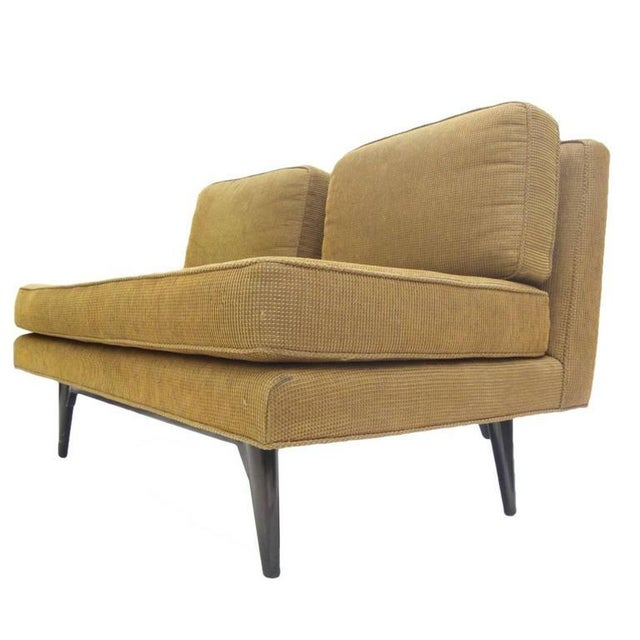 Wood Elegant Two-Seat Edward Wormley for Dunbar Settee Sofa For Sale - Image 7 of 7