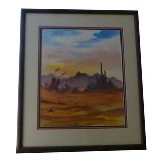 'Sunset In Tucson Arizona', a Contemporary Signed Print For Sale