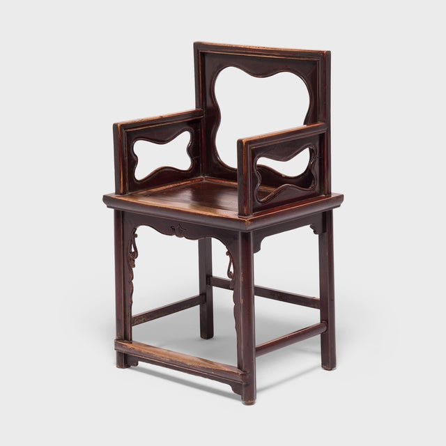 Mid 19th Century 19th Century Chinese Rose Chairs - a Pair For Sale - Image 5 of 12