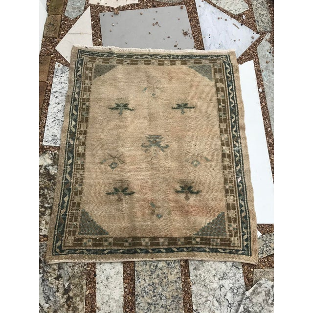 """Traditional Hand Made Vintage Turkish Area Rug- 3'3""""x4'2' For Sale - Image 3 of 10"""