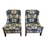 Image of Lillian August Wingback Chairs - a Pair For Sale