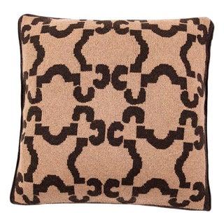 Casa Lopez - Sepia Camel Hair Pillow, 20' X 20' For Sale