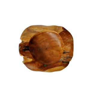 Organic Teak Bowl For Sale