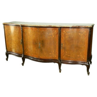19th C. French Marquetry & Marble Buffet