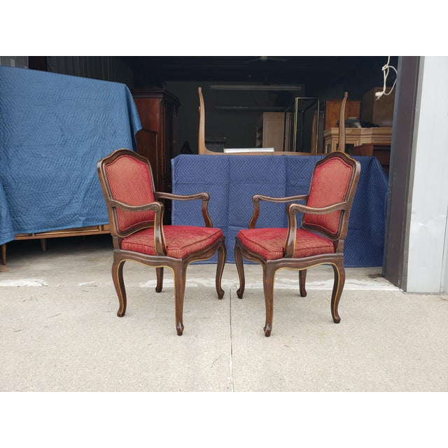 Vintage Henredon French Regency Armchairs- a Pair For Sale - Image 11 of 11