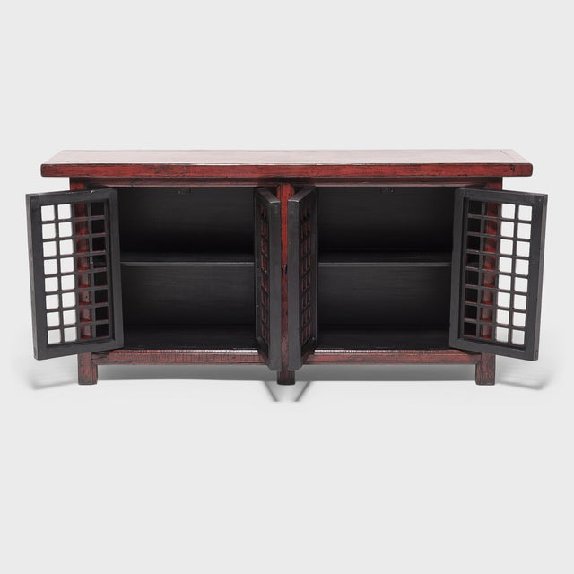 Inspired by the facades of traditional courtyard homes in Shanxi province, our talented carpenters modified this 19th-...