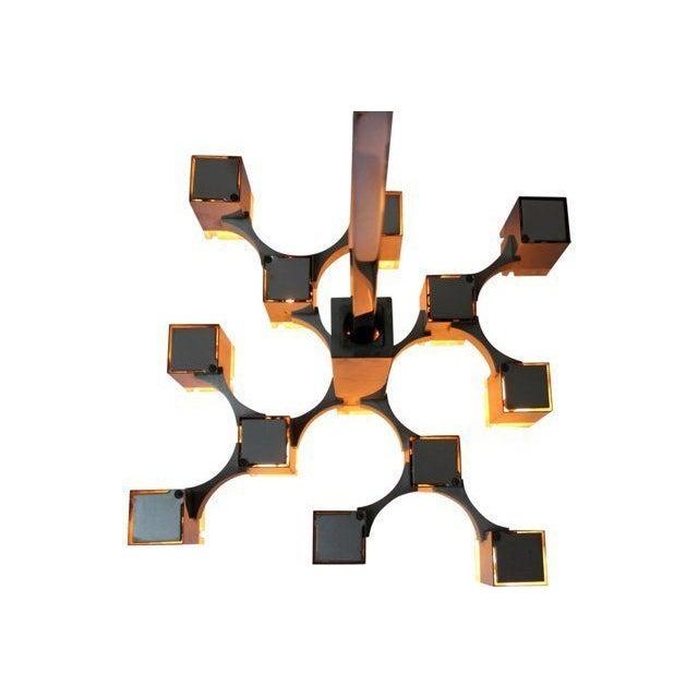 Italian Sciolari Cubic Lightolier Chandelier - Image 3 of 4