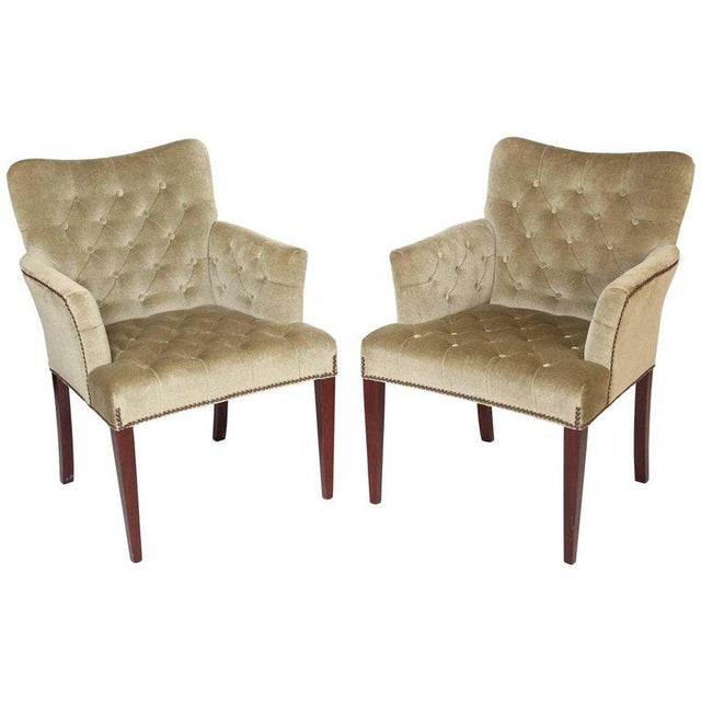 Hickory Furniture Mid-Century Modern Style Bergeres - a Pair - Image 11 of 11