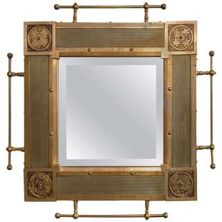 Traditional Bronze Architectural Mirror For Sale