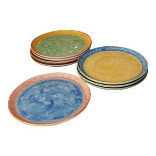 Villeroy and Boch Limited Edition Studio Design Artist Earthenware Plates - Set of 10 For Sale