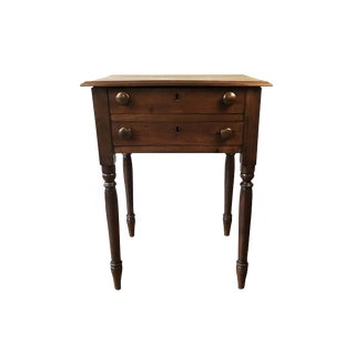 19th Century Sheraton Mahogany New England Farmhouse Stand For Sale
