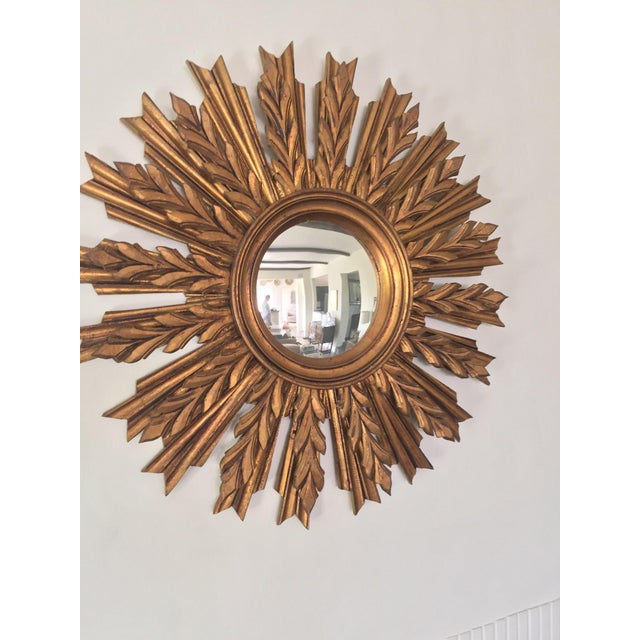 Wooden Sunburst Mirror - Image 3 of 11
