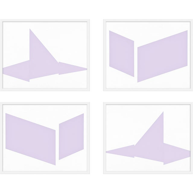 """Contemporary XL """"Compositions in Lavender, Set of 4"""" Print by Jason Trotter, 60"""" X 48"""" For Sale - Image 3 of 3"""