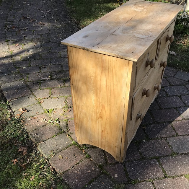19th Century English Pine Commode For Sale - Image 4 of 8