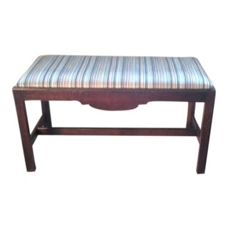 Mahogany Chippendale Style Bench