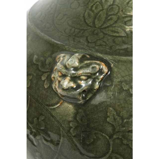 Green Celadon Chinese Green Vase For Sale - Image 8 of 9