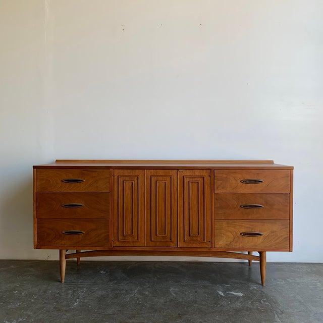 Mid Century Broyhill Sculptra Triple Dresser For Sale - Image 13 of 13