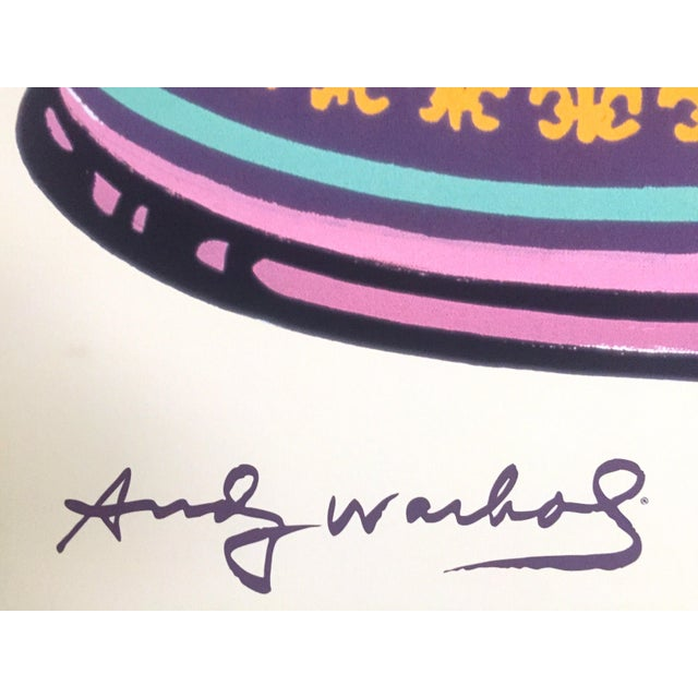 """Andy Warhol Foundation Lithograph Print Pop Art Poster """" Campbell's Soup Can """" 1965 For Sale - Image 9 of 11"""