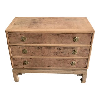 Vintage Asian Burl Wood Dresser For Sale