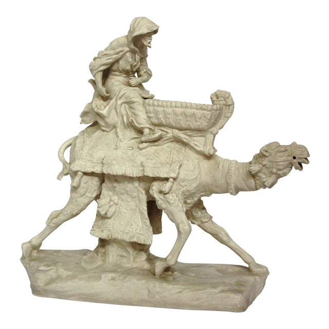 Parian Ware Arabian Camel with Bedouin Rider by Imperial-Amphora / Turn, Austria - Image 1 of 11