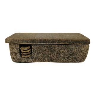 Raymore Bagni Mottled Brown Pottery Ashtray/Cigarette Holder For Sale