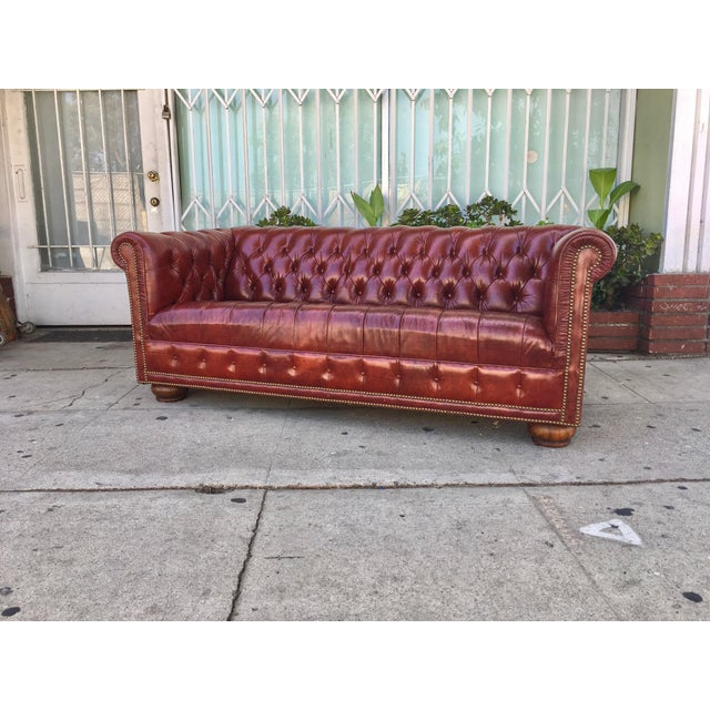 Vintage Chesterfield Leather Sofa - Image 4 of 5