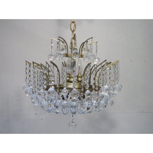 Antique Chandelier with Crystal Balls - Image 5 of 7