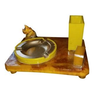 Bakelite Butterscotch Scottie Dog Cigarette holderAshtray For Sale