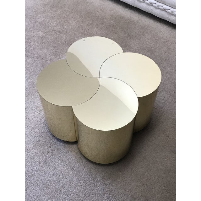 1970s Curtis Jeré Mid-Century Modern Brass Clover Table For Sale - Image 5 of 13