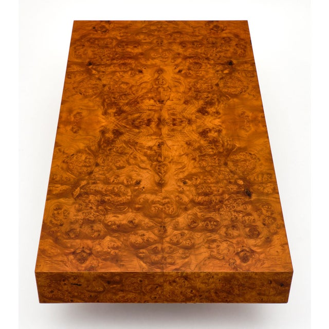 Mid-Century Burl Ash Coffee Table For Sale - Image 4 of 10