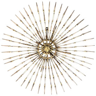 Ron Schmidt Large Brutalist Sunburst With Starburst Nail Art Wall Sculpture For Sale
