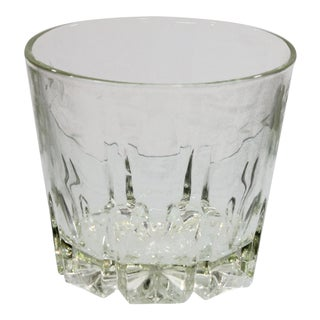 Mid-Century 60s Wheel Cut Glass Ice Bucket For Sale